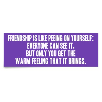 friendship is like peeing