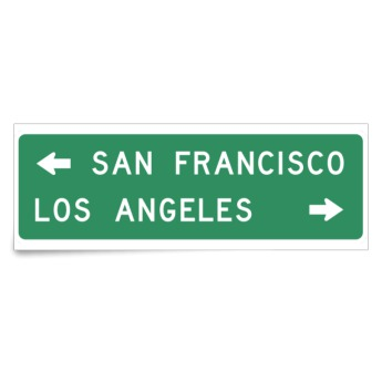 San Francisco Los Angeles Sign Sticker Custom Stickers