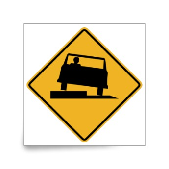 Uneven Road Ahead Warning Sticker Custom Stickers